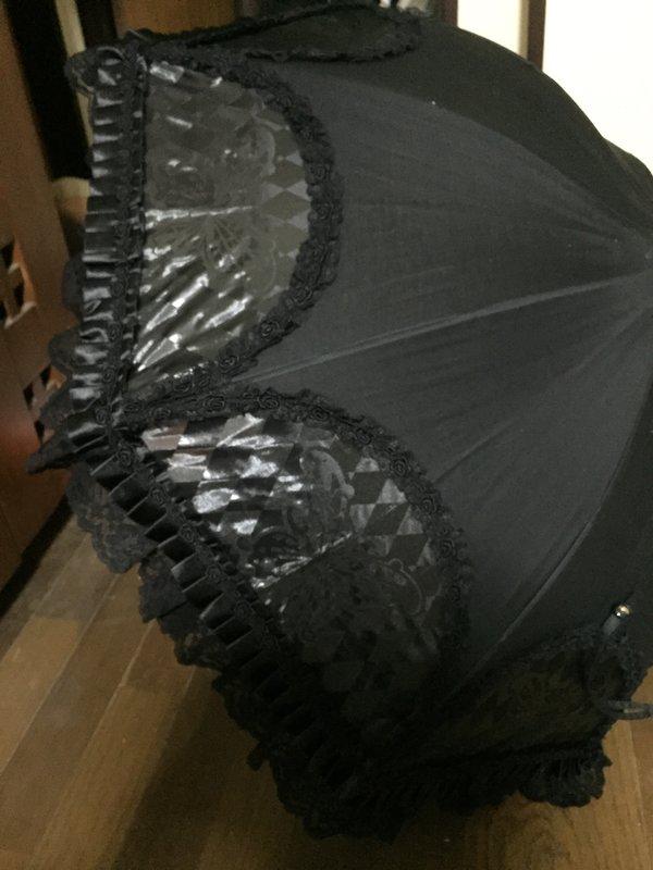 是風魔の杏里以「ゴスロリ風晴雨兼用傘」为主题投稿的照片(2016/09/30)