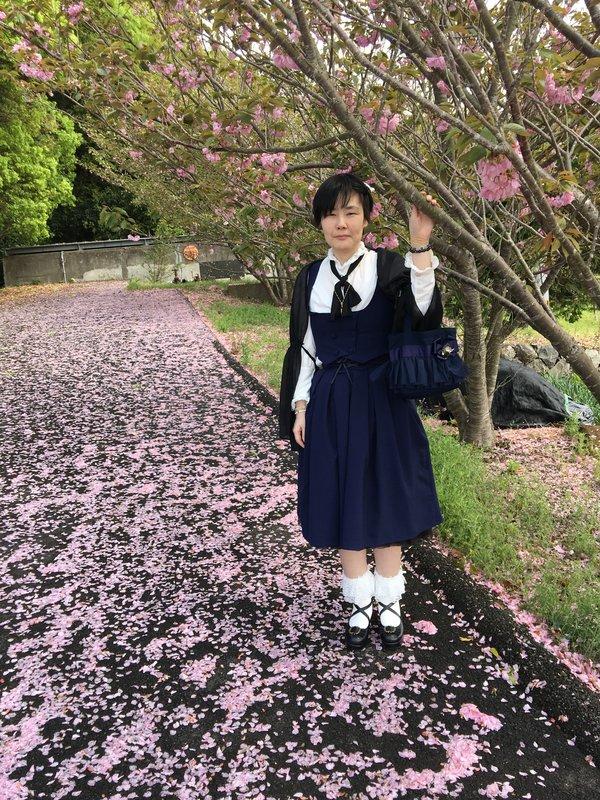 彰の「桜の下で」をテーマにしたコーディネート(2018/04/18)