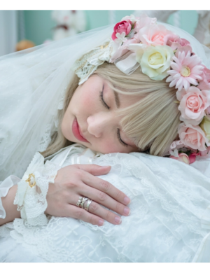石絮絮's 「Lace up ribbon ring」themed photo (2018/06/23)