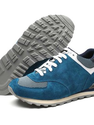 Light blue suede elevator sport shoes cesare 276 inches