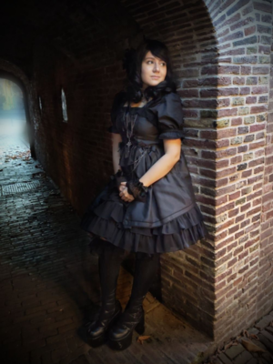 Naemiya's 「Gothic Lolita」themed photo (2020/04/21)