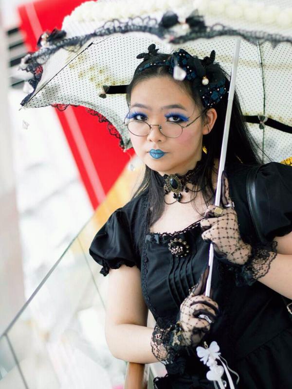 是Qiqi以「Gothic Lolita」为主题投稿的照片(2017/07/25)