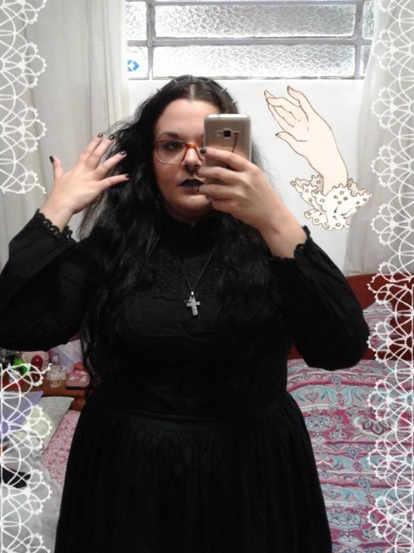 Camila Alvesの「Gothic Lolita」をテーマにしたコーディネート(2017/08/22)